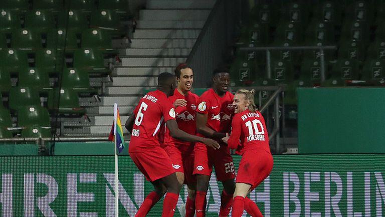 РБ Лайпциг се измъчи с Вердер, но е на финал за Купата на Германия