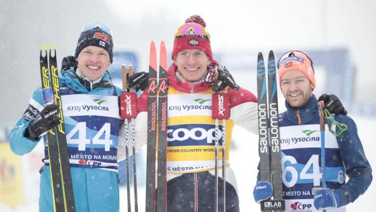 Александър Болшунов спечели на 15 км в Нове Место (видео)