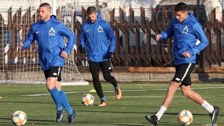 Левски със закрити тренировки преди мача с Рапид