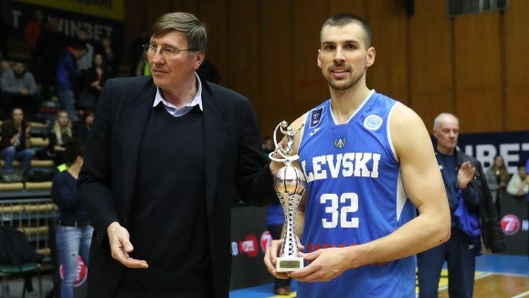 Христо Захариев - MVP при триумфа на Левски Лукойл