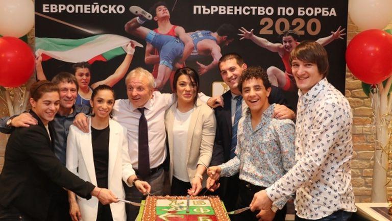 Федерацията по борба отпразнува успехите на Европейското първенство в Рим