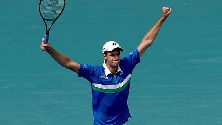 Полякът Хуркач сътвори една от големите сензации по време на турнира по тенис в Маями