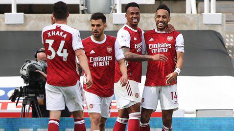 Променен Арсенал си тръгна с три точки от Нюкасъл (видео)