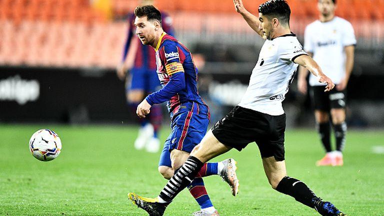 Валенсия - Барселона  2:3, Меси отново блести