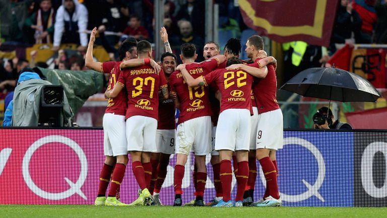 Рома взе дербито с Наполи и излезе трети в Серия А (видео)