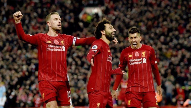 """Ливърпул нанесе тежък удар на Сити на """"Анфийлд"""" и се откъсна на девет точки пред шампионите (видео)"""