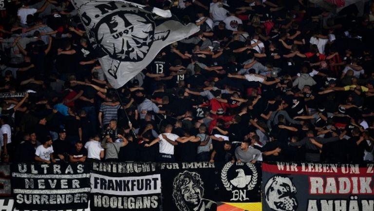 УЕФА реши: Айнтрахт без фенове срещу Арсенал