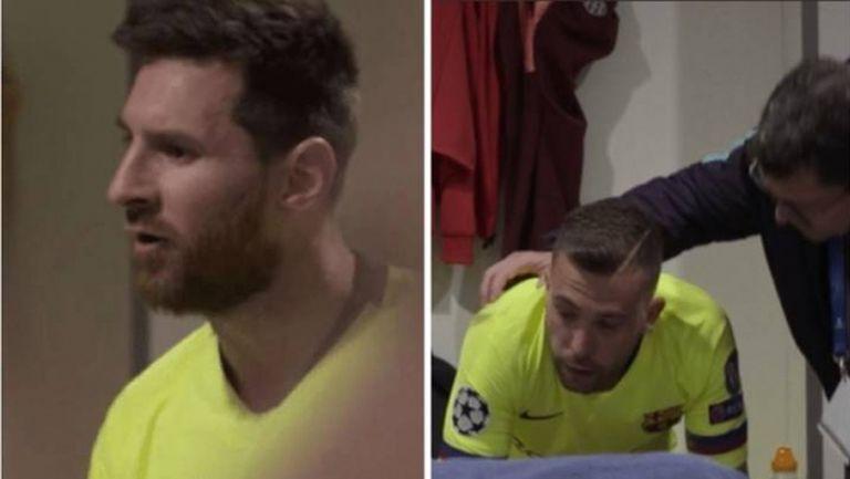 Уникални кадри от съблекалнята на Барса след 0:4 срещу Ливърпул (видео)