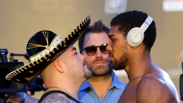Изненада на кантара: Шампионът Руис е налял още килограми (видео + галерия)