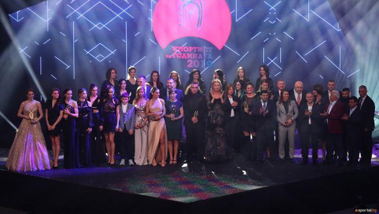Всички победители в анкетата Спортист и Треньор на годината на България