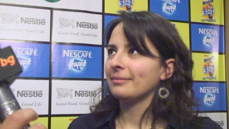 Даниела Илиева от Nestle пред Sportal TV