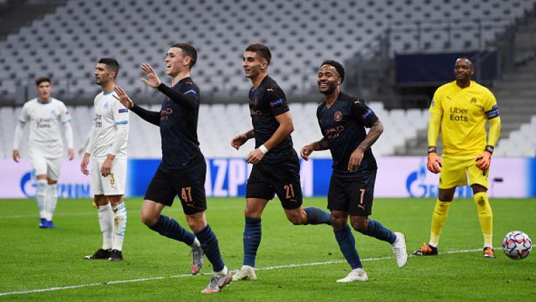 Манчестър Сити мина без проблеми през Марсилия и спечели с 3:0