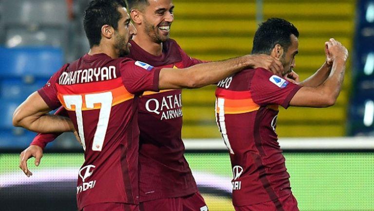 Шедьовър на Педро донесе първа победа на Рома (видео)