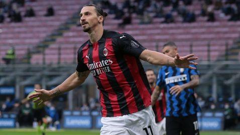 Ибра се завърна ударно, а Милан отново празнува срещу Интер след четири години (видео+галерия)