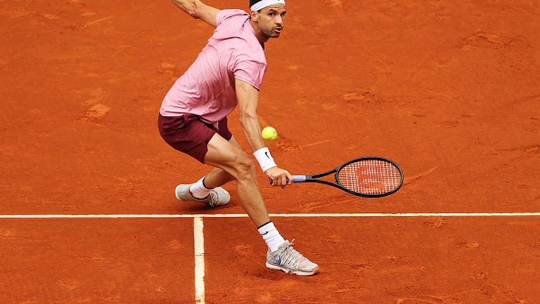 """След здрава битка с Лойд Харис, Григор Димитров отпадна в първия кръг на """"Мастърс"""" турнира в Мадрид"""