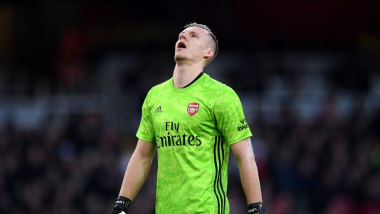 Вратарят на Арсенал е №1 по ключови грешки в Премиър лийг