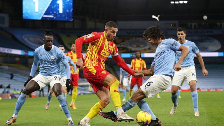Манчестър Сити разочарова срещу Уест Бромич и стигна само до 1:1