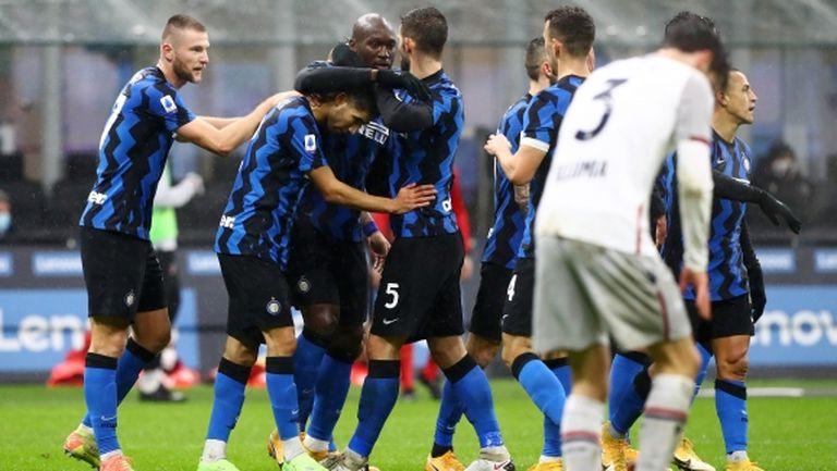 Трета поредна победа за Интер, но този път без драми (видео)