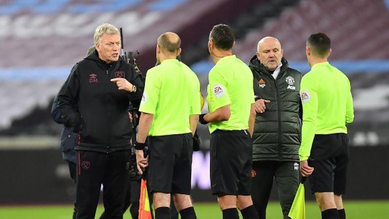 Първият гол на Юнайтед беше нередовен, оплака се Дейвид Мойс