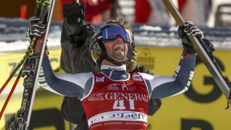 Словенец спечели сензационно първото спускане за сезона