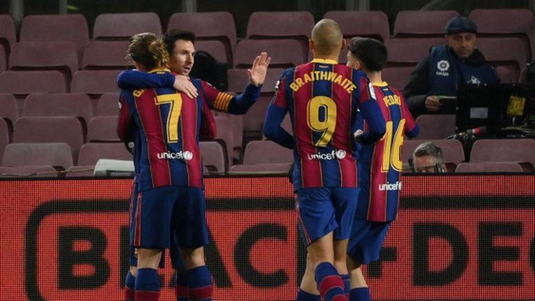 Лео Меси измъкна Барселона в деликатен момент (видео)
