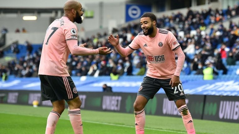 Шефилд Юнайтед измъкна втората си точка от началото на сезона, и то с човек по-малко (видео)