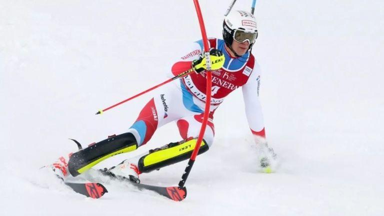 Рамон Ценхойзерн спечели първия слалом за сезона, Алберт Попов се спусна само в първия манш