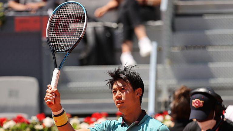 Нишикори обърна Хачанов и се класира за втория кръг в Мадрид