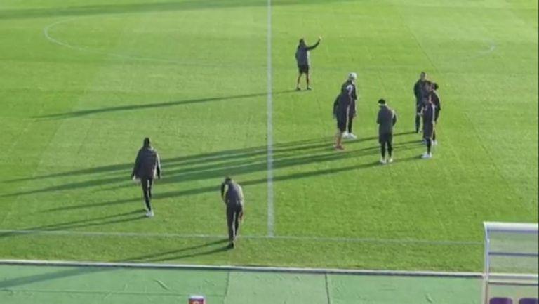 """Играчите на Лудогорец опитаха тревата на стадион """"Ивайло"""" във Велико Търново"""