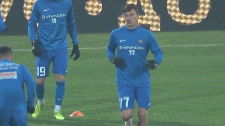 Юруков за първи път титуляр при мъжете на Левски