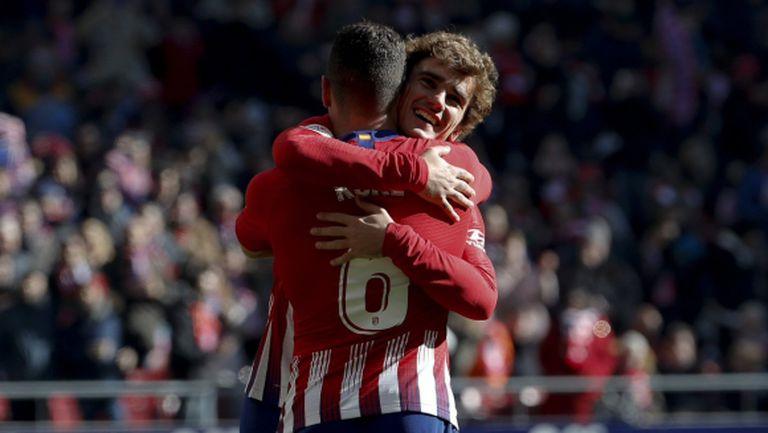 Атлетико Мадрид прибави нова победа по обичайния начин (видео)