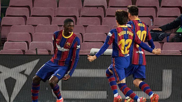Барселона се доближи на точка от лидера Атлетико, Дембеле герой за каталунците