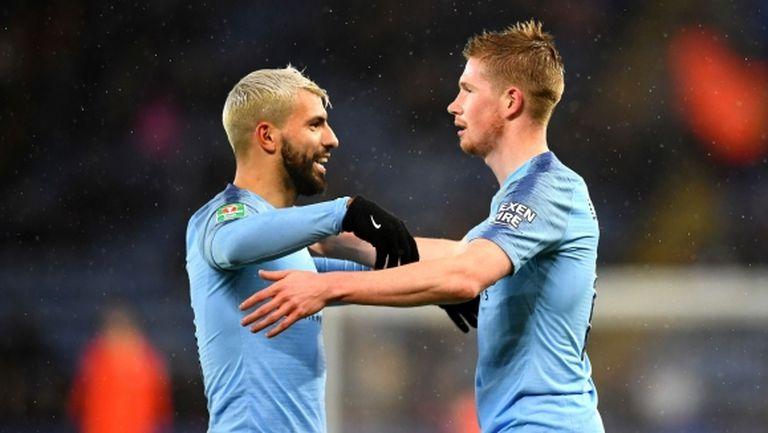 Манчестър Сити се добра до 1/2-финал за Купата на лигата след дузпи
