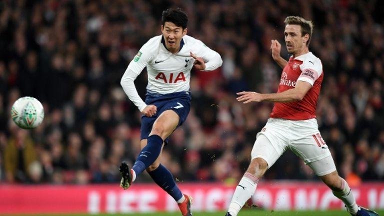 Тотнъм спечели сблъсъка с Арсенал и ще играе на 1/2-финал за Купата на Лигата