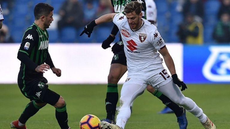 Късна драма беляза срещата между Сасуоло и Торино