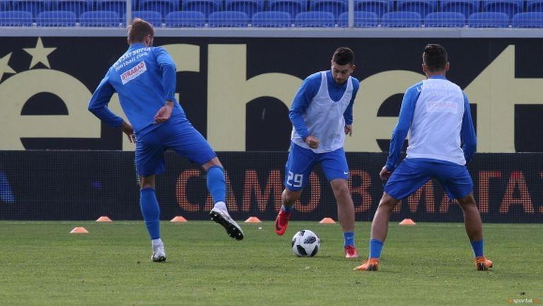 Левски с възстановителна тренировка след победата над Ботев (видео)