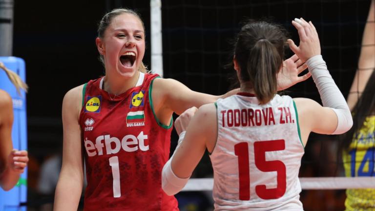 Категорична победа с 3:0 за волейболистките ни над Украйна