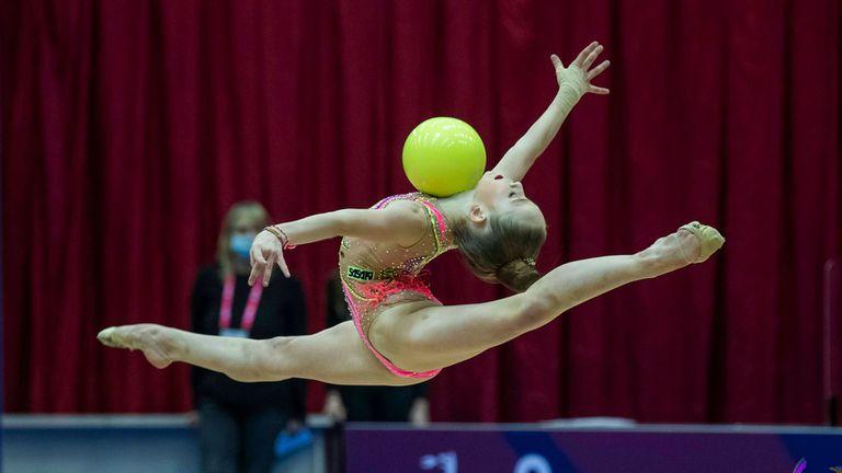 """Шест медала, от които два златни, спечелиха българските гимнастички на финалите на отделните уреди на турнира  Купа """"София"""""""