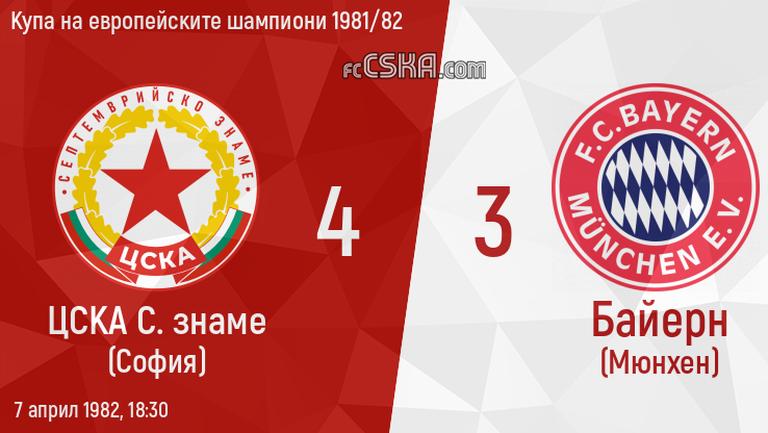 На този ден - ЦСКА с уникална победа над Байерн (Мюнхен)