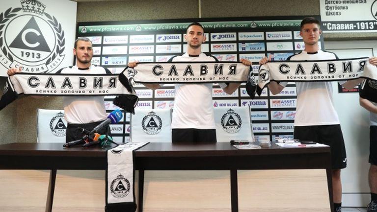Славия представи като нови попълнения футболист от ЦСКА (Москва) и още трима (видео+галерия)