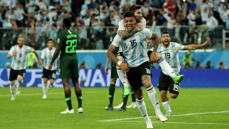 Аржентина успя!!! Меси и компания оцеляха след убийствена драма срещу Нигерия (видео+галерия)