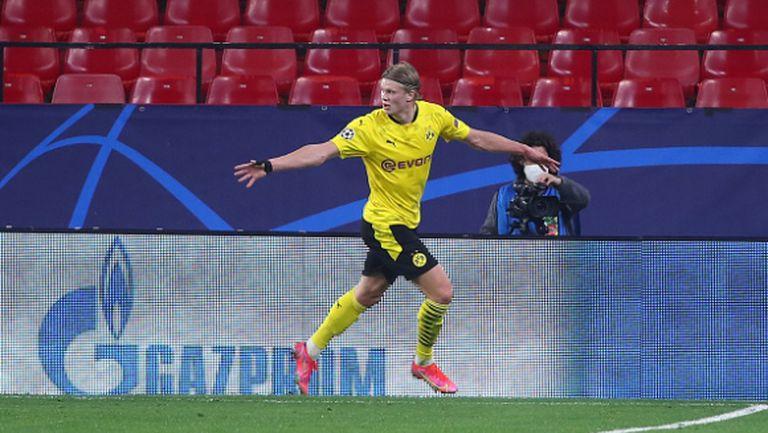 Холанд подобри голов рекорд в Шампионската лига