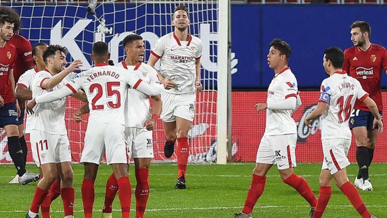 Севиля измести Барселона от третото място в Ла Лига (видео)