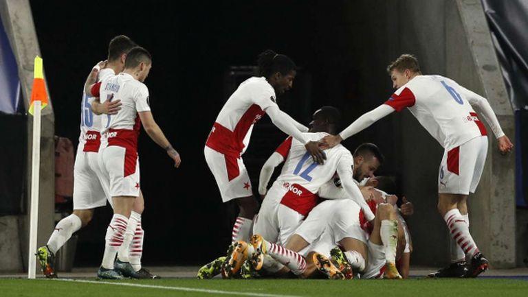 Славия Прага изхвърли Лестър от Лига Европа (видео)