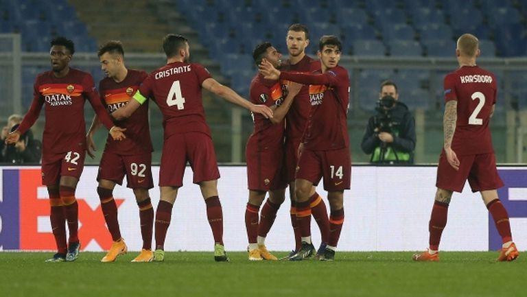 Рома за втори път се справи с Брага и ще играе на 1/8-финалите (видео)