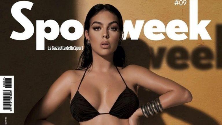 Джорджина разпалва фантазиите от корицата на спортно списание