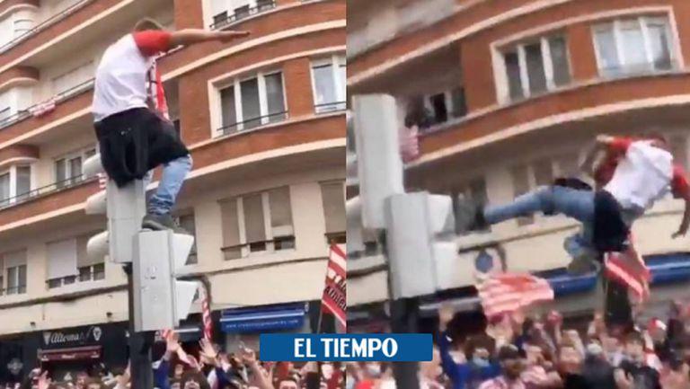 """Летящият фен на Атлетик Билбао """"кацна"""" в болницата"""