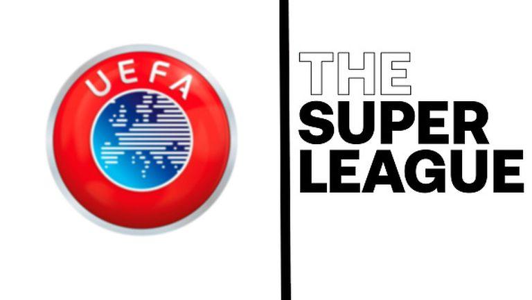 УЕФА наказа участници, които напуснаха Суперлигата