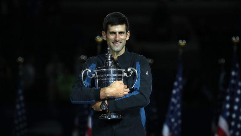 Триумф на US Open нареди Джокович сред най-великите