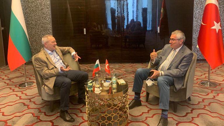 Министър Кузманов се срещна с президента на Турския олимпийски комитет